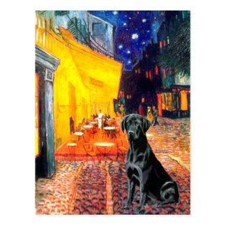 Postal Labrador 1 (negro) - café de la terraza