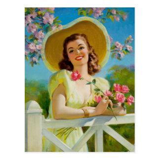 Postal Lady En Yellow
