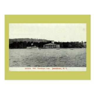 Postal Lago Chautauqua, vintage 1909 de Jamestown NY