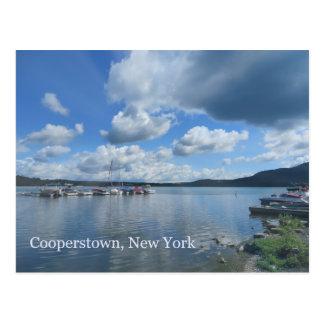 Postal Lago Cooperstown Nueva York Otsego
