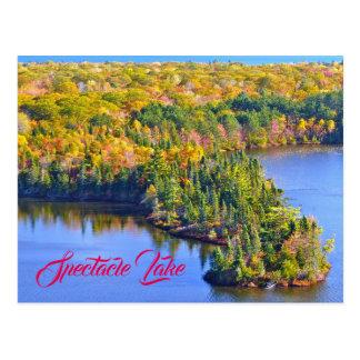 Postal Lago spectacle visto en otoño de la colina de la