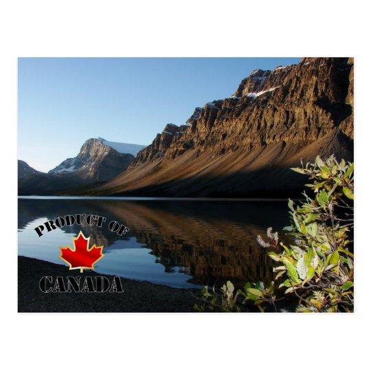 Postal Lago y glaciar bow