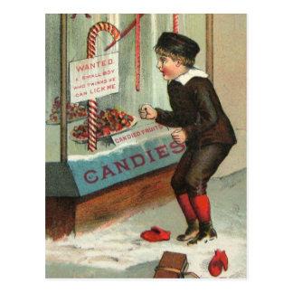 Postal Lámame chiste del navidad del vintage del humor