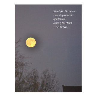 Postal Lanzamiento para la luna