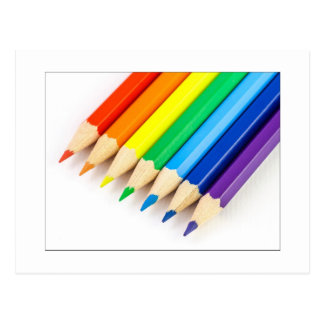 Postal Lápices del arco iris
