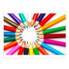 Postal Lápices del color