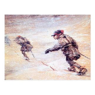 Postal Laplanders en la nevada - snostorm de Lappar i