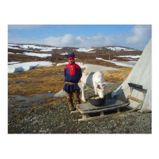 Postal Laponia, acuerdo de Sámi con la tienda y la vaca