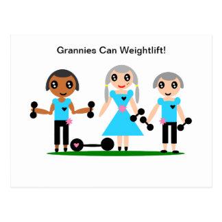 Postal Las abuelitas pueden Weightlift