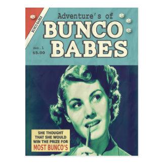 Postal Las aventuras de los bebés de Bunco
