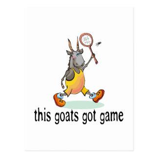 Postal Las cabras consiguieron el juego