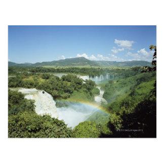 Postal Las cataratas del Iguazú escénicas de desatención