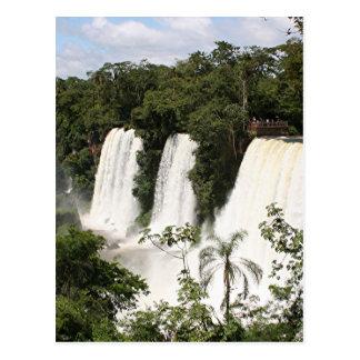 Postal Las cataratas del Iguazú, la Argentina, Suramérica