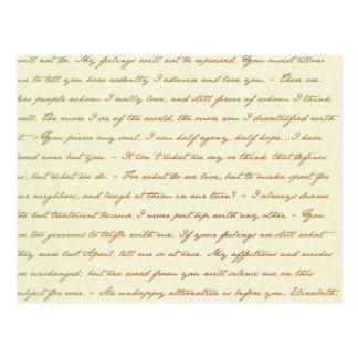 Postal Las citas del mejor de Jane Austen