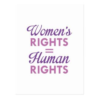 Postal Las derechas de las mujeres son derechos humanos