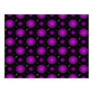 Postal Las esferas negras y púrpuras 3D texturizaron