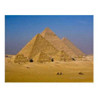 Postal Las grandes pirámides de Giza, Egipto