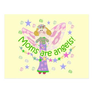 Postal Las mamáes son camisetas y regalos de los ángeles
