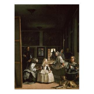Postal Las Meninas de Diego Velázquez