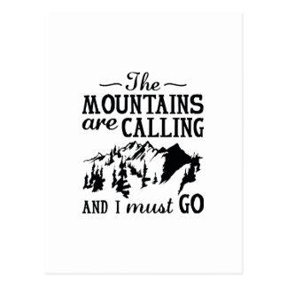 Postal Las montañas están llamando