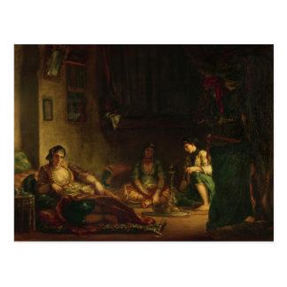 Postal Las mujeres de Argel en su Harem, 1847-49