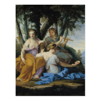 Postal Las musas, Clio, Euterpe y Thalia, c.1652-55