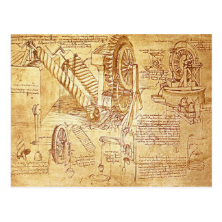 Postal Las notas de da Vinci