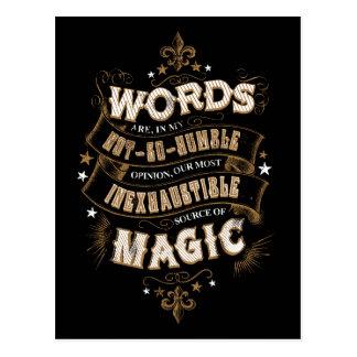 Postal Las palabras del encanto el | de Harry Potter son