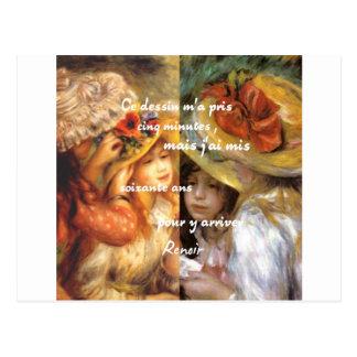 Postal Las pinturas de Renoir son un montón de amor