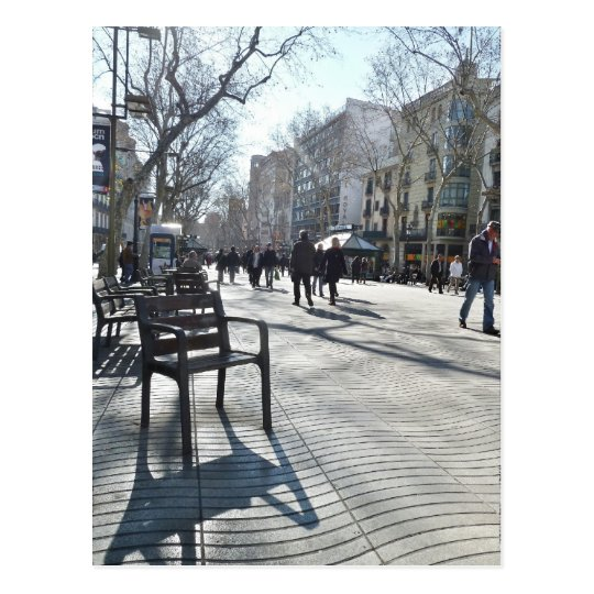Postal Las Ramblas de Barcelona