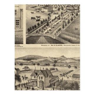 Postal Las residencias de Wm N Gladden y señora Ina B