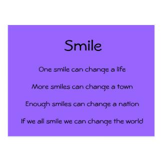 Postal Las sonrisas cambian el mundo