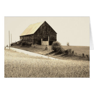 Postal lateral del granero del país, pensando en u tarjeta de felicitación