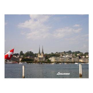 Postal Lausanne-Lago Ginebra
