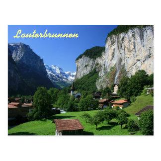 Postal Lauterbrunnen, Suiza