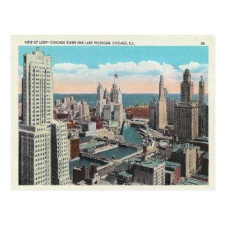 Postal Lazo de Chicago del vintage