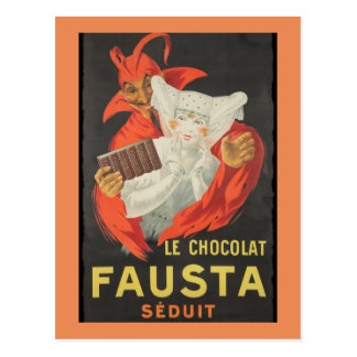 Postal Le Chocolat Fausta Seduit