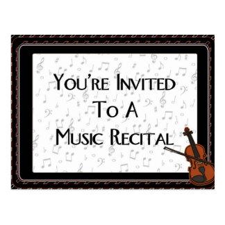 Postal Le invitan a un decreto de la música