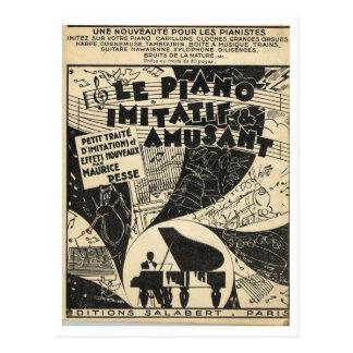 Postal Le Piano Imitatif y Amusant, partitura