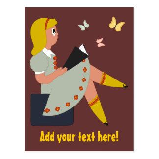 Postal Lectura de la niña