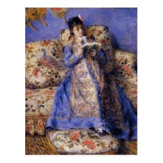 Postal Lectura de Pedro-Auguste Renoir- Camilo Monet