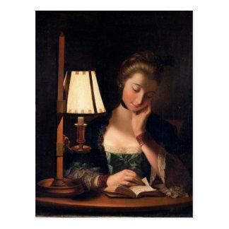 Postal Lectura por una sombra de la Papel-campana, 1766