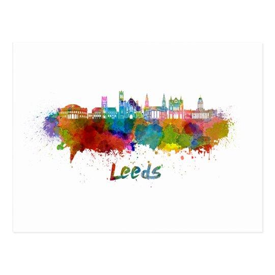 Postal Leeds V2  skyline in watercolor