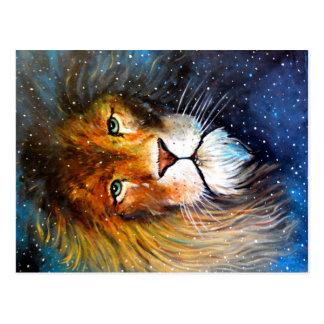 Postal Leo, el león de la estrella