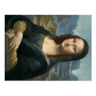 Postal Leonarde da Vinci Mona Lisa