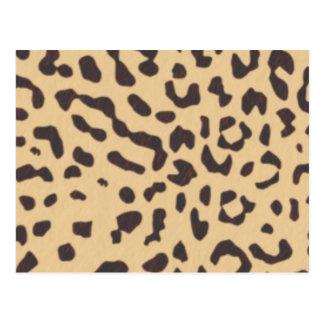 Postal leopardo; espacio en blanco