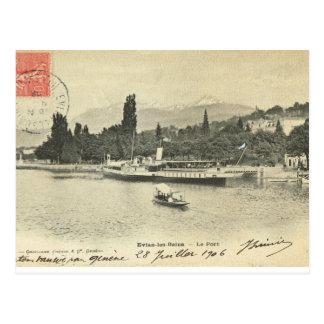 Postal Les franceses Bains, Port, 1906 de Francia, Evian