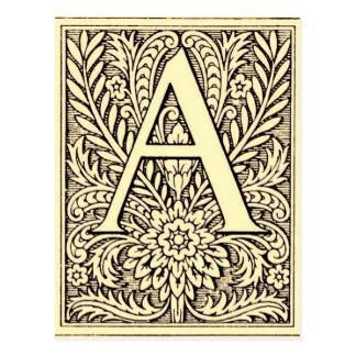 Postal Letra A del alfabeto