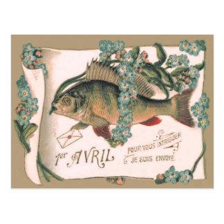 Postal Letra de la nomeolvides de los pescados