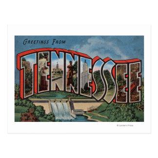 Postal Letra grande ScenesTennessee de Tennessee (presa)